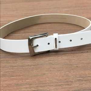 Calvin Klein White Belt